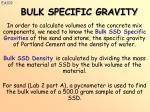 bulk specific gravity