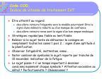 code cod indice de vitesse de traitement ivt