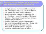 exemples d infos cliniques que le psychologue peut observer pendant la passation 2