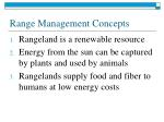 range management concepts