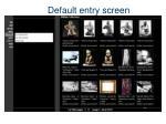 default entry screen