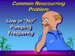 common reoccurring problem