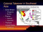 colonial takeover in southeast asia