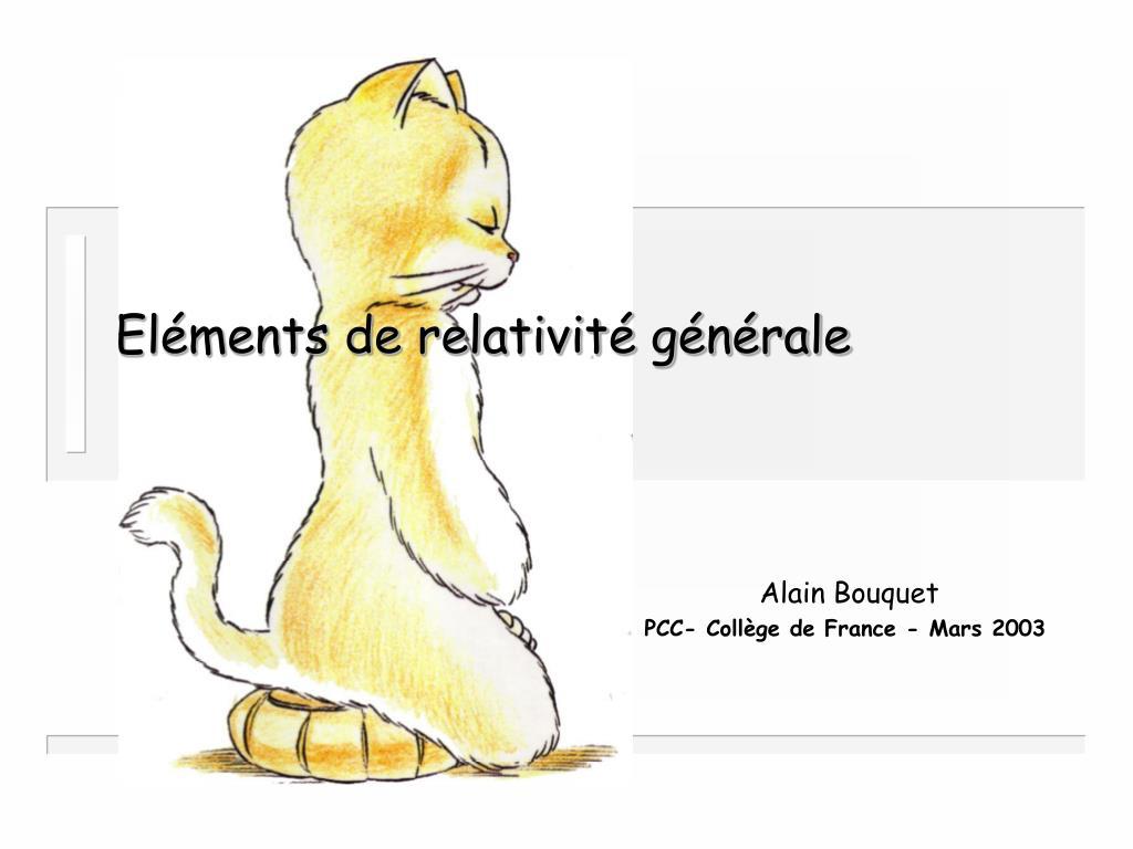 el ments de relativit g n rale l.