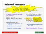 relativit restreinte