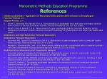 manometric methods education programme references4