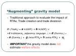 augmenting gravity model