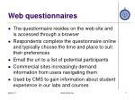 web questionnaires