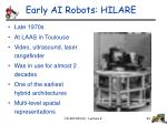 early ai robots hilare