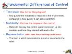 fundamental differences of control