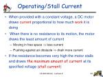 operating stall current