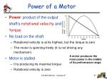 power of a motor