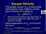 escape velocity17