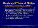 newton s 2 nd law of motion9