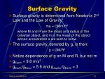 surface gravity15