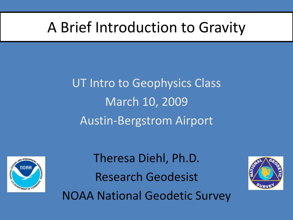 a brief introduction to gravity l.