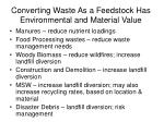 converting waste as a feedstock has environmental and material value