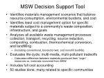 msw decision support tool