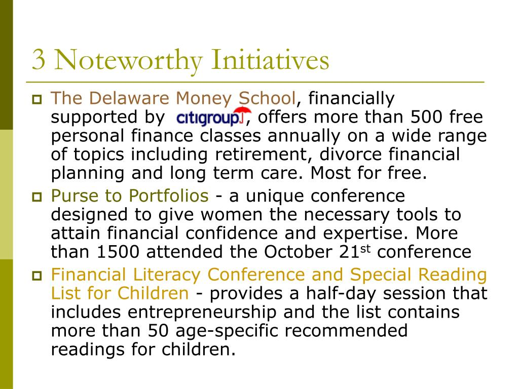 3 Noteworthy Initiatives