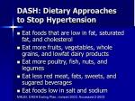 dash dietary approaches to stop hypertension