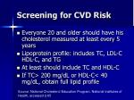 screening for cvd risk
