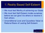 1 reality based self esteem