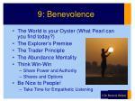 9 benevolence