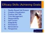 efficacy skills achieving goals