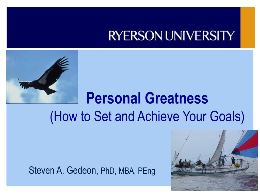 personal greatness how to set and achieve your goals l.