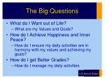 the big questions