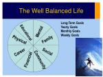 the well balanced life