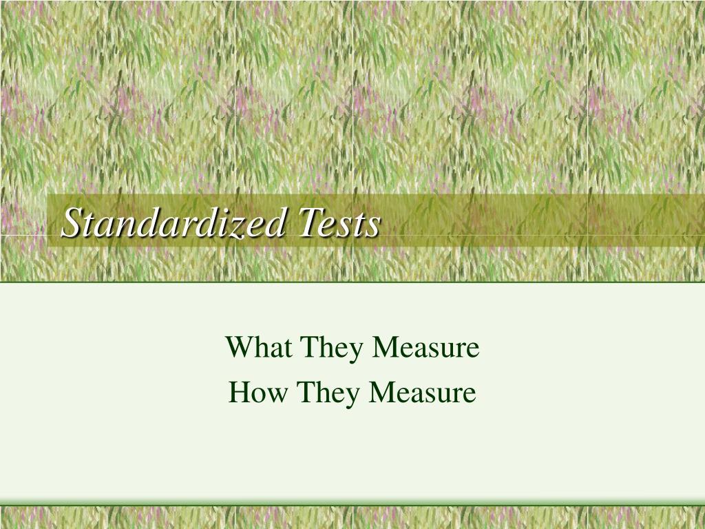 standardized tests l.