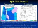 april 2014 forecast