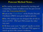 forecast method notes
