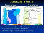 march 2014 forecast
