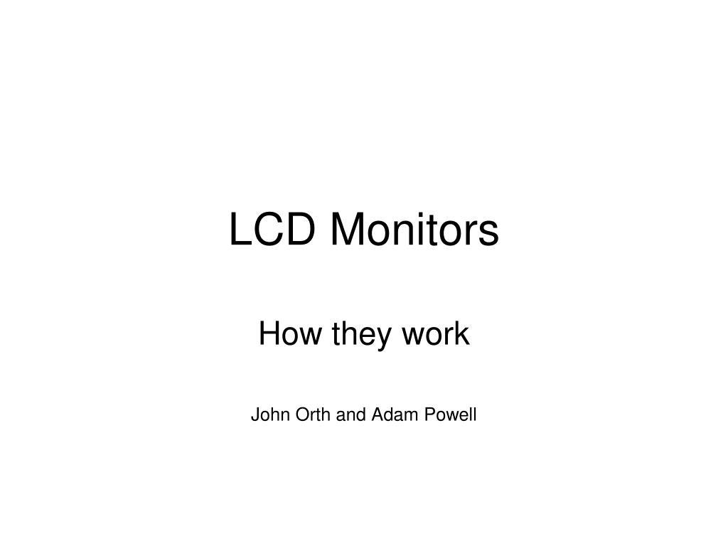 lcd monitors l.