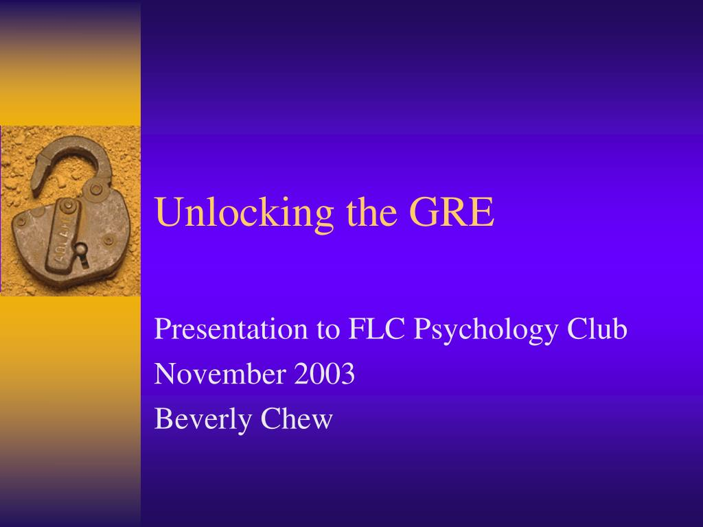 unlocking the gre l.