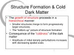 structure formation cold dark matter