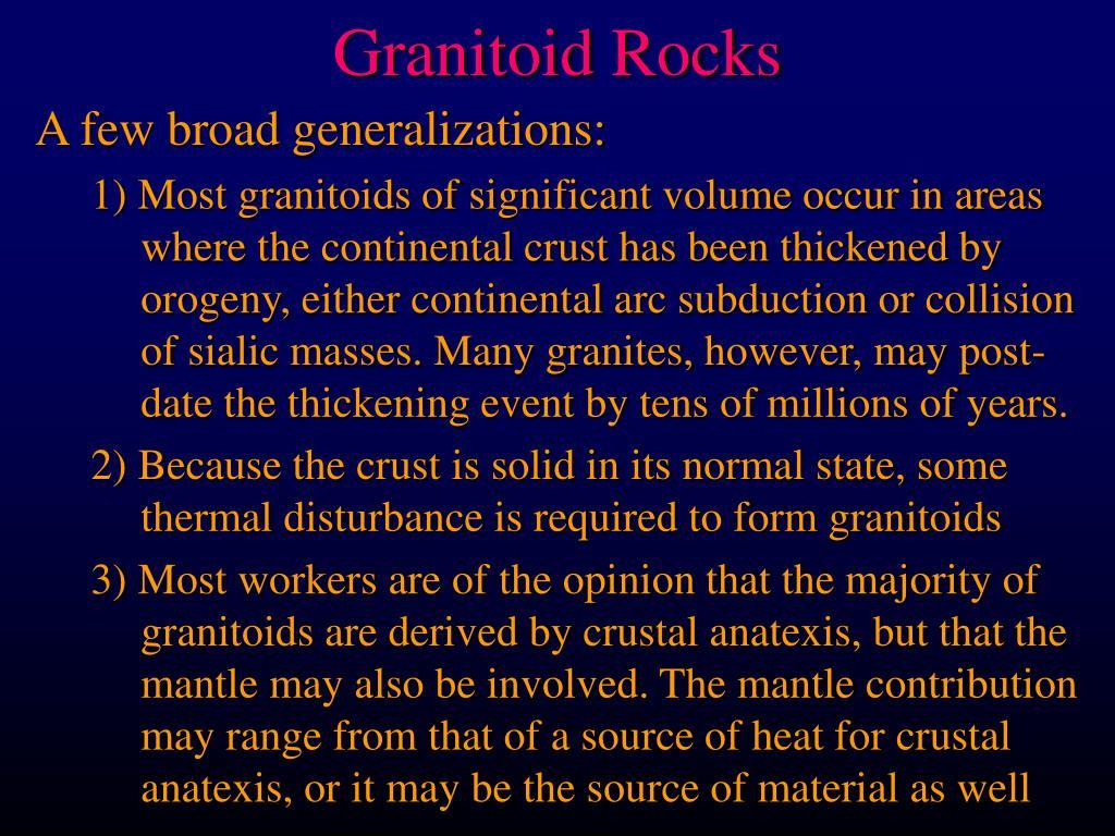 granitoid rocks l.