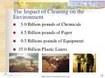 the impact of cleaning on the environment