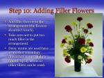 step 10 adding filler flowers