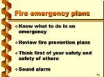 fire emergency plans