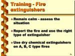 training fire extinguishers