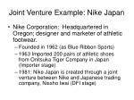 joint venture example nike japan