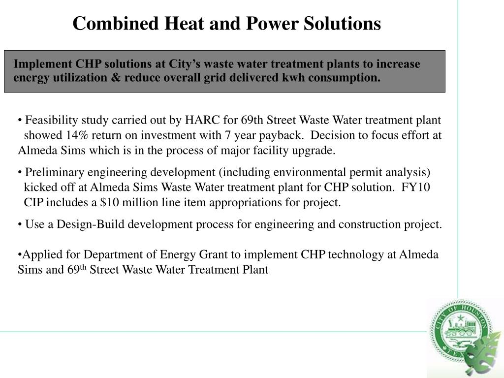 Combined Heat and Power Solutions