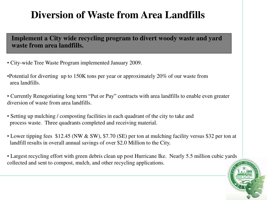 Diversion of Waste from Area Landfills