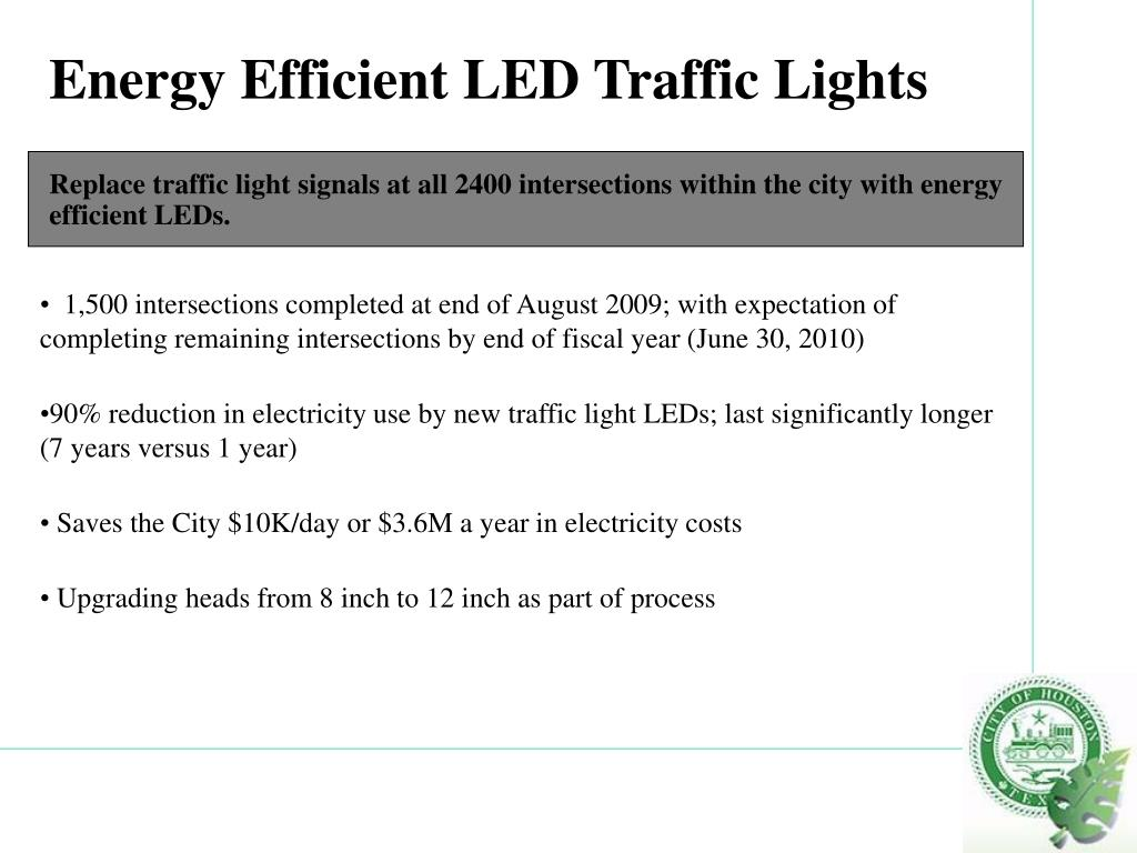 Energy Efficient LED Traffic Lights