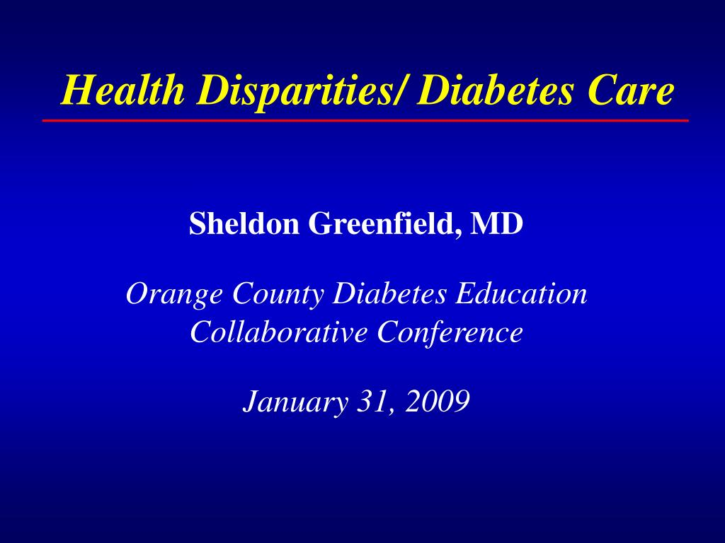 health disparities diabetes care l.
