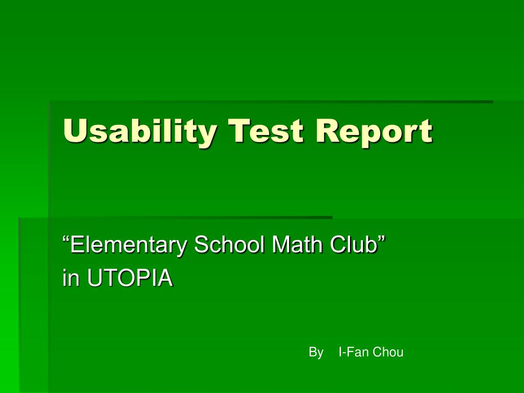 usability test report l.