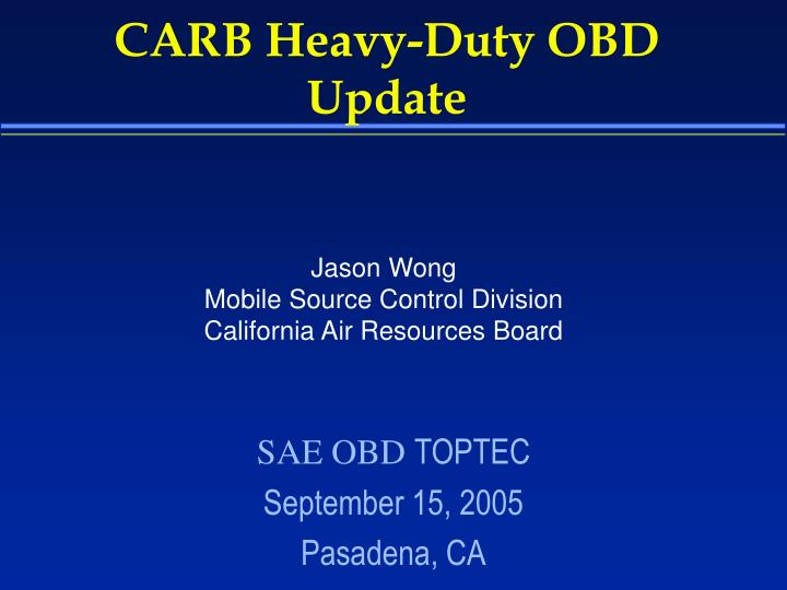 carb heavy duty obd update n.